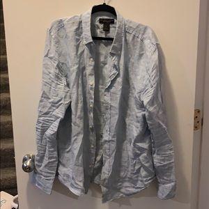 Men's linen buttondown Large